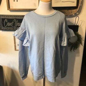 H&M Ruffle Sleeve Sweatshirt